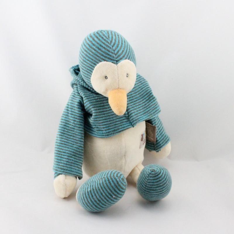 Doudou pingouin Loupiots MOULIN ROTY