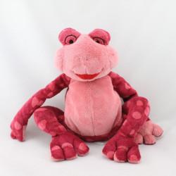 Doudou grenouille rose bordeaux TCF TOUT COMPTE FAIT