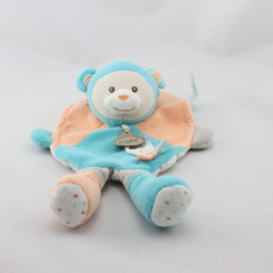 Doudou plat ours bleu orange gris étoiles BABY NAT