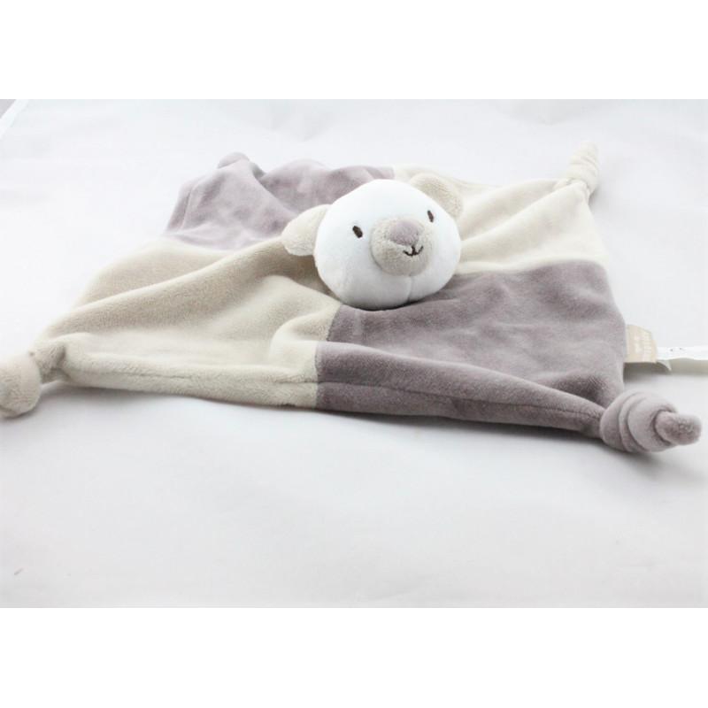 Doudou plat ours koala gris beige blanc Amadeus CADES