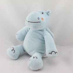 Doudou musical hippopotame bleu Bébé9