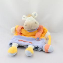 Doudou et Compagnie marionnette ane cheval Mario jaune parme Graines