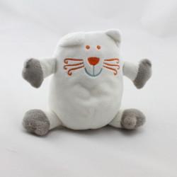 Doudou chat blanc gris VETIR