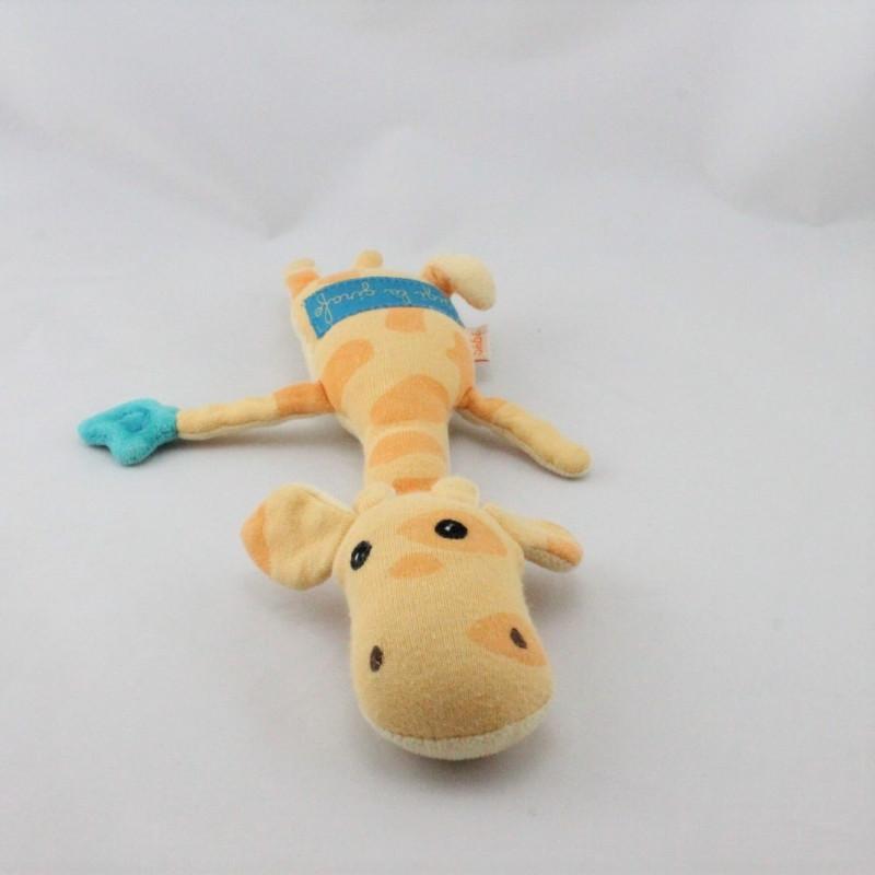 Doudou girafe orange Gigi pouet DPAM
