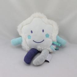 Doudou réversible étoile blanche bleu LUC ET LEA