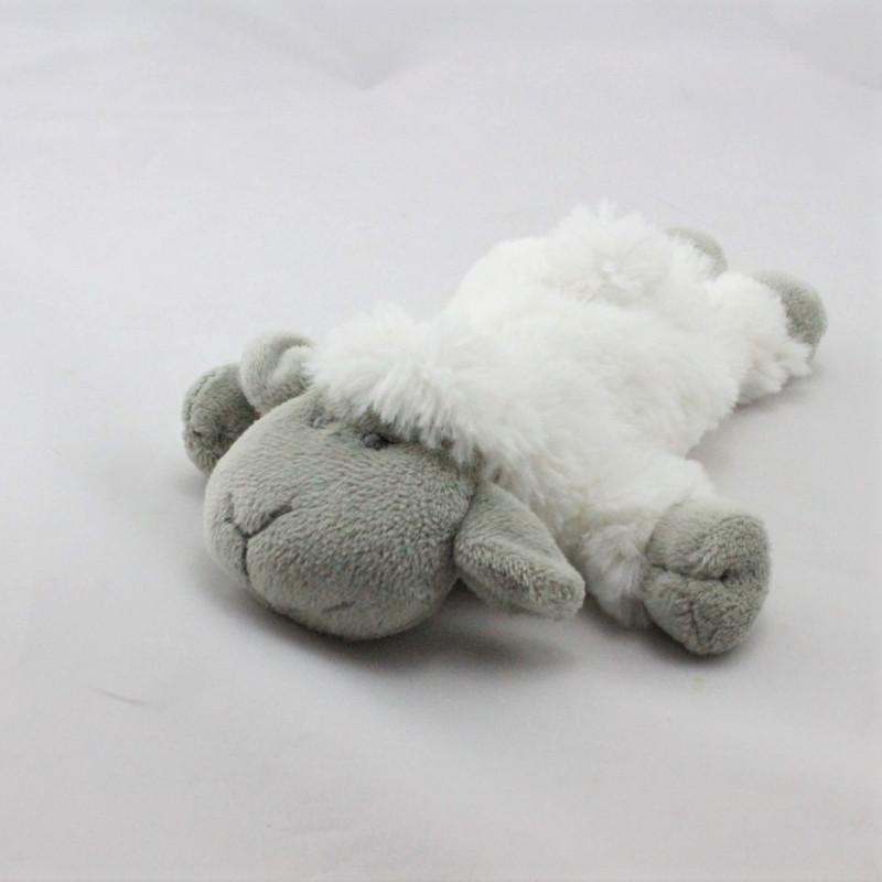 Doudou mouton blanc gris MATHILDE M