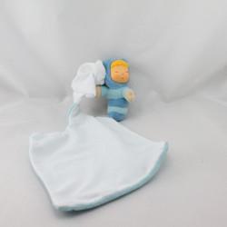 Doudou Cotoons Chowing chenille bleu de Smoby