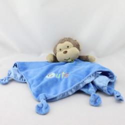 Doudou plat singe marron bleu Cute SMALL WONDERS