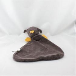 Doudou plat oiseau marron orange PEPPA