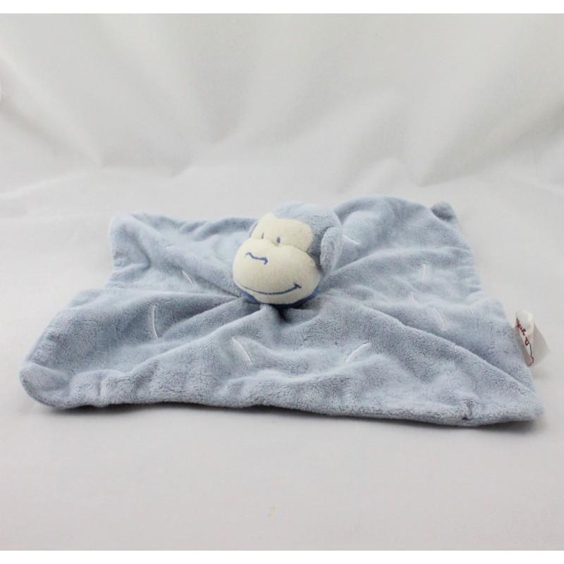Doudou plat singe bleu BENGY