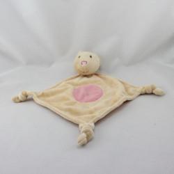 Doudou plat souris beige rose RENAULT