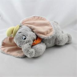 Doudou peluche Dumbo l'éléphant gris col orange DISNEY NICOTOY