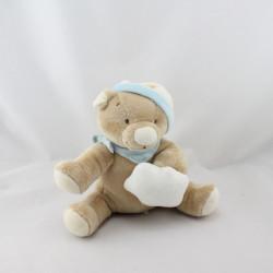 Doudou musical ours beige bleu étoile NOUKIE'S