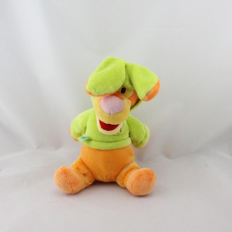 Doudou Tigrou déguisé en lapin vert DISNEY NICOTOY