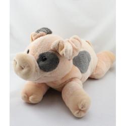 Grand Doudou cochon rose taches noires NICOTOY