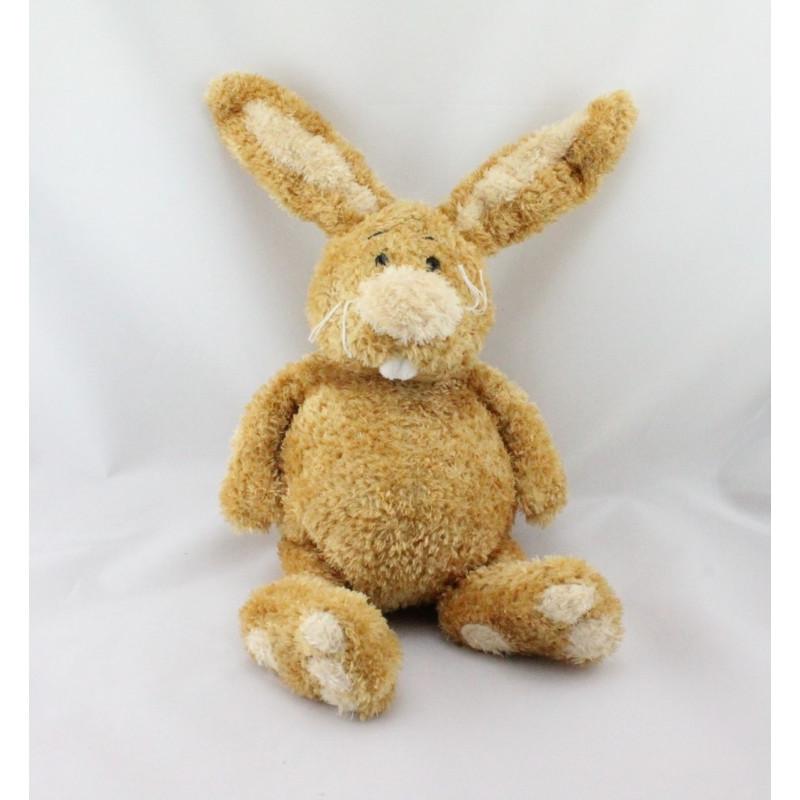 Doudou lapin beige marron ANNA CLUB PLUSH