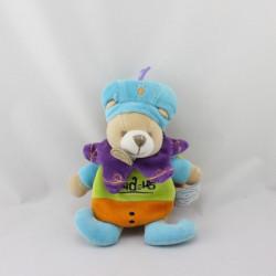 Doudou et compagnie ours cape prince Indidous attache tétine