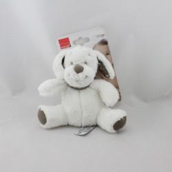Doudou chien blanc beige étoiles INFLUX
