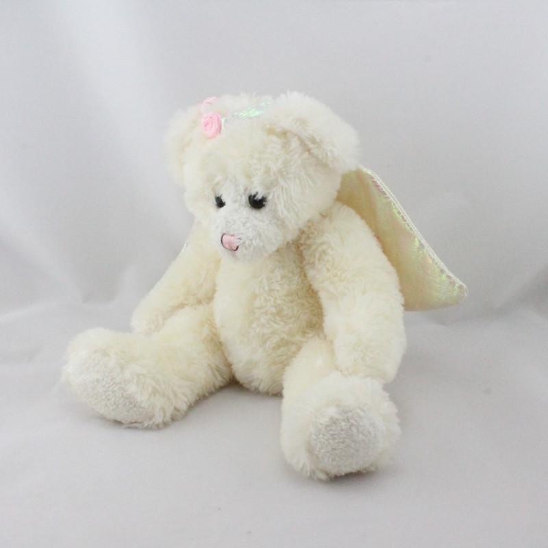 Doudou peluche ours blanc ailes ange Le grand Parc du Puy du Fou