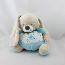 Doudou lapin bleu blanc étoiles MOTS D'ENFANTS