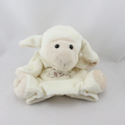 Doudou plat marionnette mouton blanc HISTOIRE D'OURS