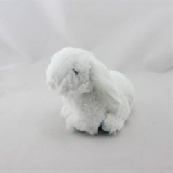 Doudou lapin blanc bleu pois TEX BABY