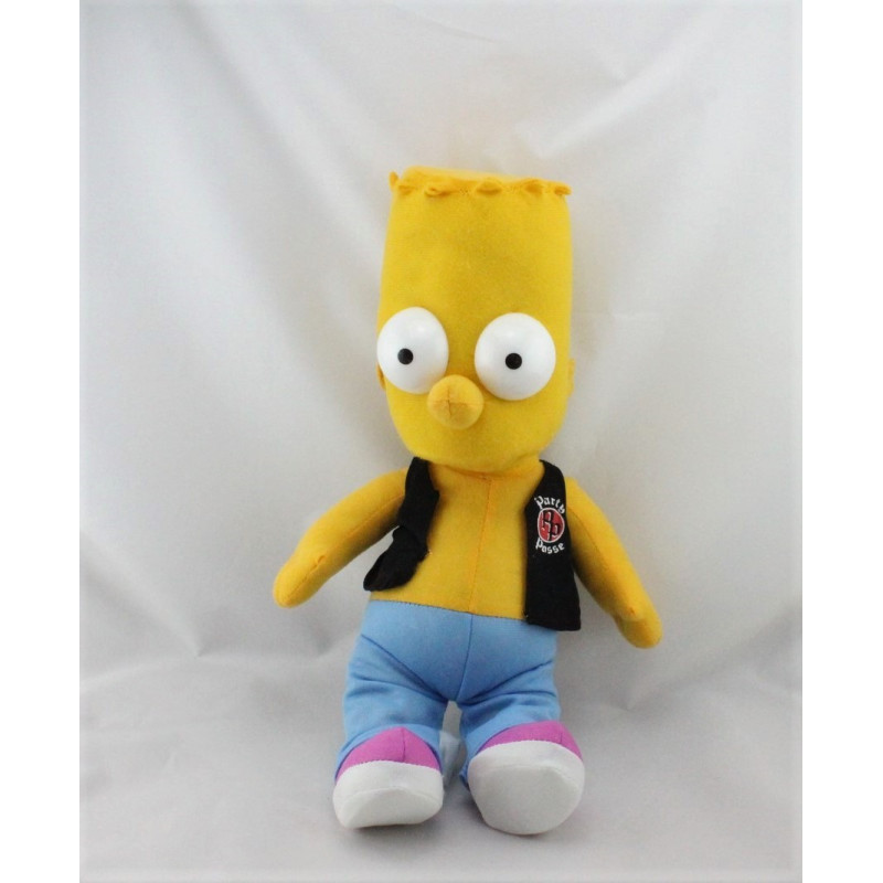 Peluche Poupée Bart Les Simpsons veste noir