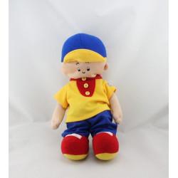 Peluche poupée CAILLOU jaune bleu rouge
