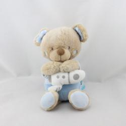 Doudou musical ours bleu fusée Rocket Boy TEX
