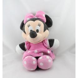 Peluche Minnie robe rose à pois DISNEY STORE 40 cm