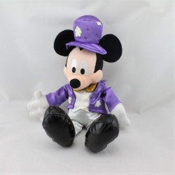 Peluche Mickey costume violet chapeau magicien DISNEY