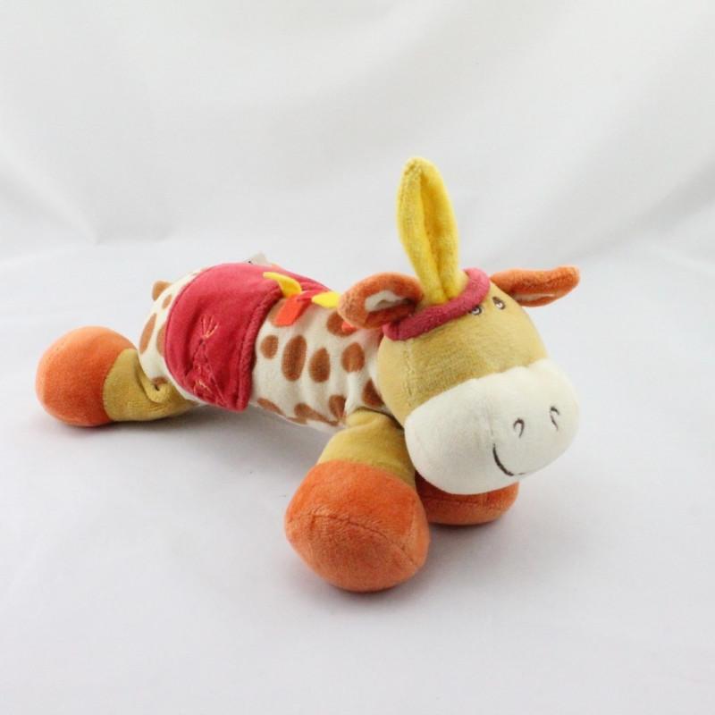 Doudou girafe indien tente CATIMINI