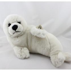 Peluche phoque blanc créme WWF