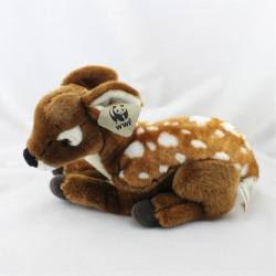 Peluche biche chevreuil WWF
