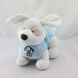 Doudou vibrant chien cocard bleu blanc OBAIBI