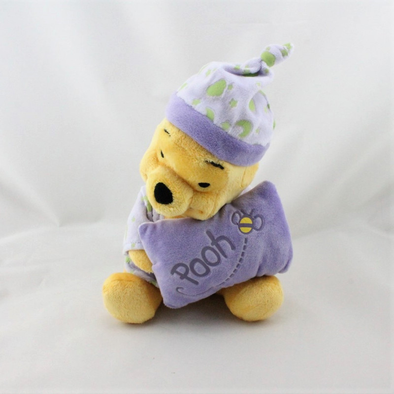 Doudou winnie coussin mauve violet nuages lunes phosphorescent DISNEY