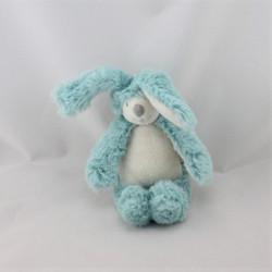 Doudou lapin bleu blanc La Bande à Basile MOULIN ROTY 30 cm