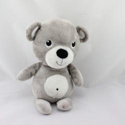 Doudou ours gris blanc HM H ET M H&M
