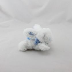 Doudou et compagnie lapin blanc bleu tout doux Coucou attache tétine