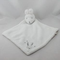 Doudou plat souris blanche petites merveilles SYLVIE THIRIEZ