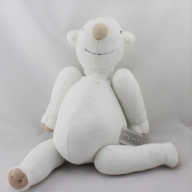 Doudou eveil ours blanc beige PICWIC