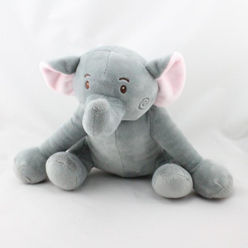 Doudou éléphant gris rose BEBE CONFORT