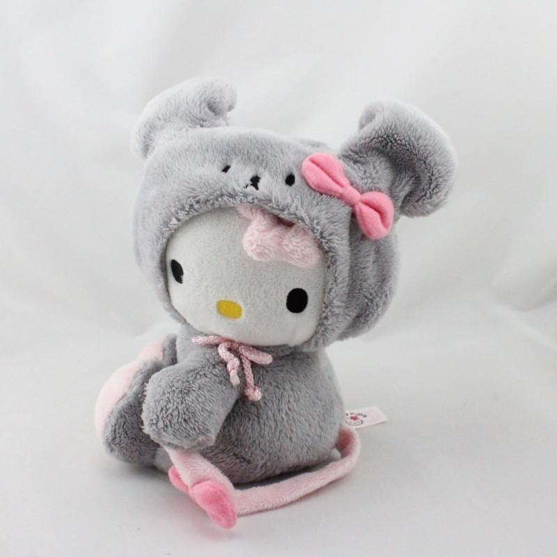 Doudou chat HELLO KITTY déguisé en souris grise SANRIO LICENSE