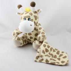 Doudou girafe mouchoir SENSEI LA MAISON DU COTON