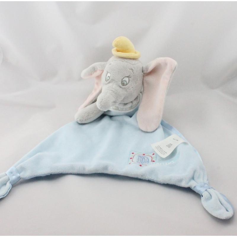 Doudou plat Dumbo l'éléphant bleu satin DISNEY STORE