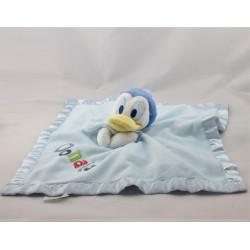 Doudou plat canard Donald bleu satin DISNEY STORE