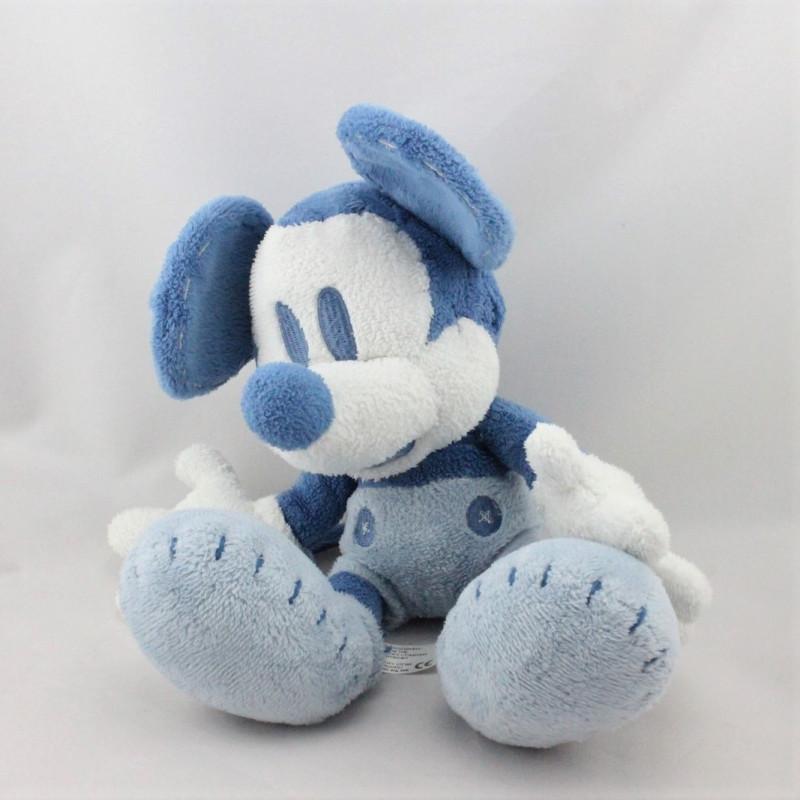 Doudou peluche Mickey bleu blanc DISNEY STORE