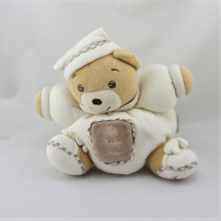 Doudou ours blanc marron Les trois ours KALOO pour Linvosges