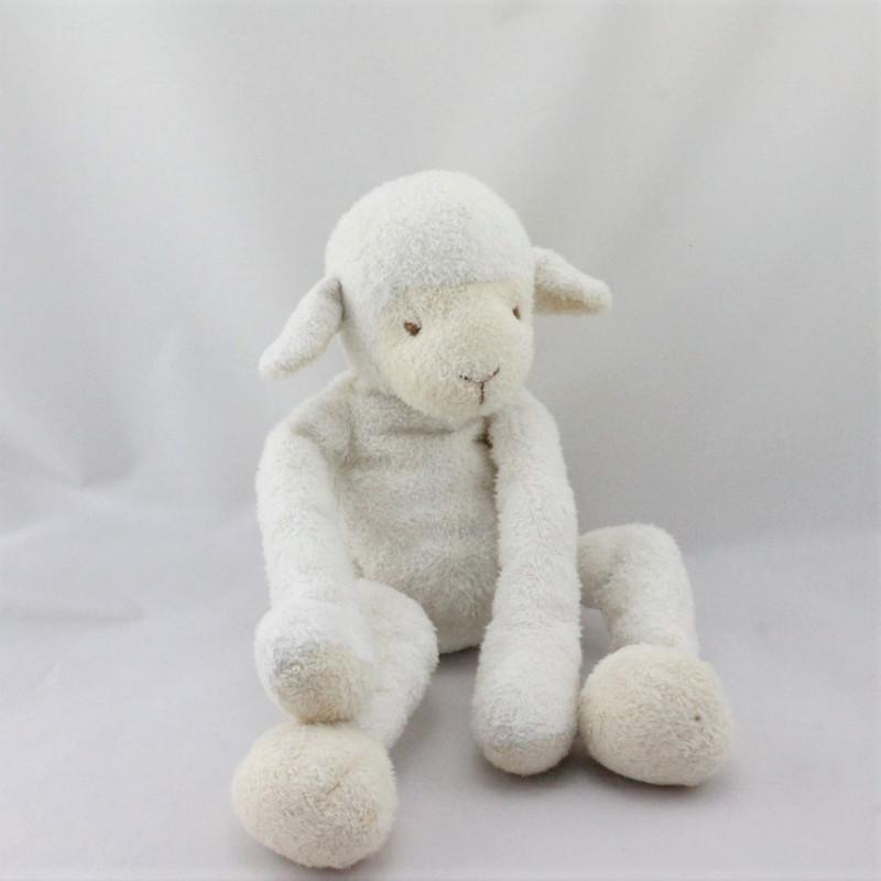 Doudou mouton blanc beige BABY NAT