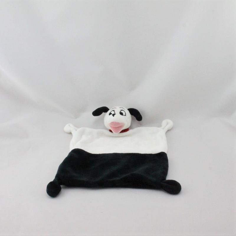 Doudou plat chien 101 dalmatiens blanc noir DISNEY